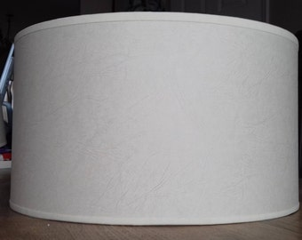 Made to order parchment drum lampshade cylinder bespoke natural