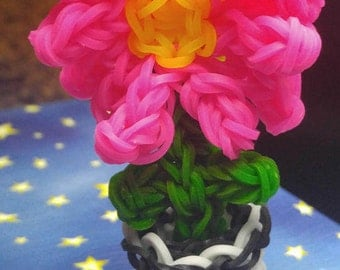 Flower in a Pot - Rainbow Loom