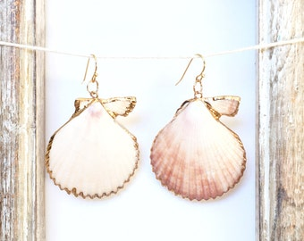 Natural Shells Earrings, Summer Earrings, Gift idea