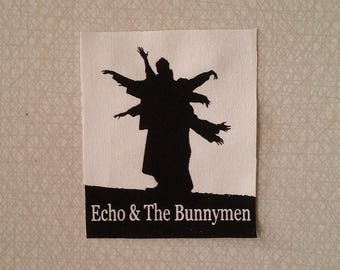 Echo & the bunnymen patch goth new wave post punk