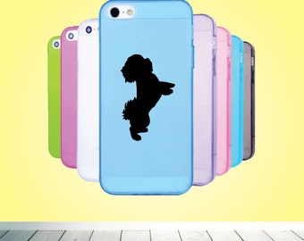 bichon frise vinyl decal dog silhouette decal custom phone case decal for a him her friend dog vinyl decal - Frise Vinyle