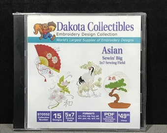 Dakota Collectibles Sewin' Big Asian Embroidery CD