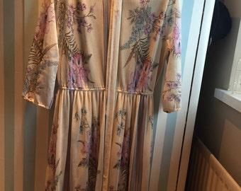 vintage summer dress with lavander flowers