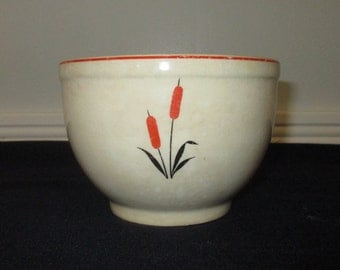1940 Sears Roebuck cattail pattern bowl