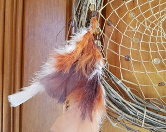 Dreamcatcher - Rooster Feathers - #2017-06