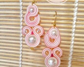 "Soutache Earrings, Handmade Earrings, Soutache, Soutache Jewelry, Hand made jewelry earrings, handmade, model ""Princess"""