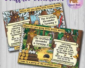 The Gruffalo Invitation, Gruffalo Invite, Gruffalo Birthday Party, Gruffalo Party, Book Theme, Gruffalo Printable, Gruffalo Book