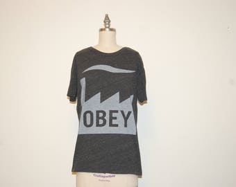OBEY Graphic T Shirt (Grey)