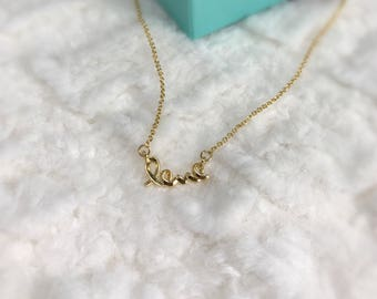 Love Necklace/Initial Necklace/Gold Necklace