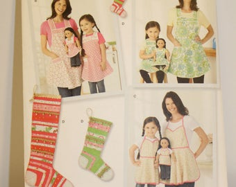 Simplicity 1936 Stocking ornaments and apron pattern