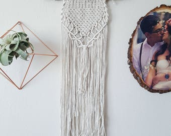 Medium Macrame Wall Hanging With Carved Branch