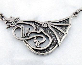 """Silver necklace """"Lucky Dragon"""""""