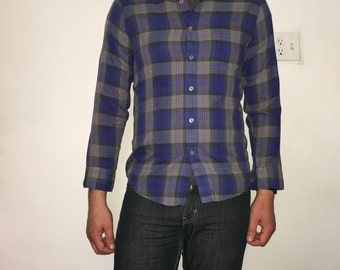McGregor Blue/Pink/Gray Plaid Button-down Size Small