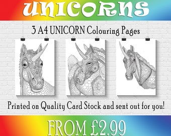 Unicorn coloring | adult coloring page | coloring book | stress relief | anxiety relief | coloring pages for adults