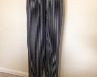 80s 90s Vintage Black Pinstripe Pants Kathie Lee