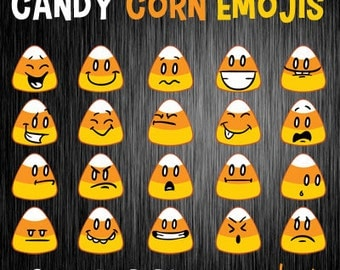 Candy Corn Emoji Clip Art, Candy Corn Clip Art, Emoji Art, Halloween Candy Clip Art, Emotions Clip Art, Emoji Clip Art, Halloween ClipArt
