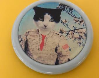 Top Cat  - gift for cat lover - custom pet portrait - cat print - framed cat portrait - cat fabric print - gift from cat