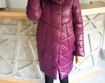 Woman warm winter jacket