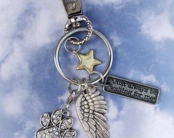 Pet memorial, memorial keychain