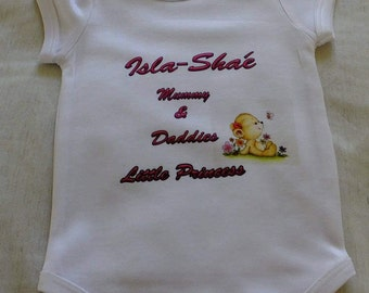 Babygrow personaloised with any image or text that you require