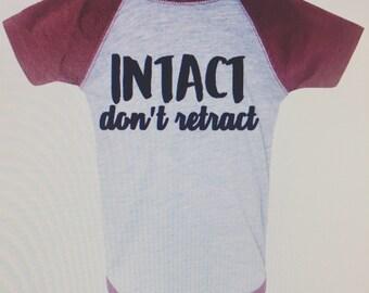 Intact Onesie, Uncircumcised Onesie, Boy Onesie, baby boy onesie