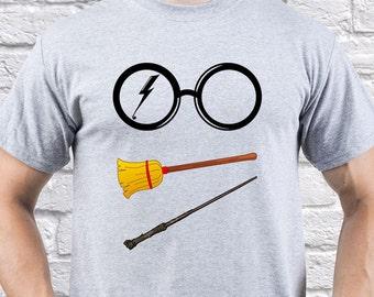 Harry Potter Magic/ Harry Potter Stuff / Mens T-shirt/ Mens Tee/ HP Hogwarts/ HP Always/ Harry Potter Broom/ Quidditch Game/ Magic/(HP03)