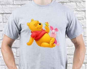 Winnie the Pooh/ Winnie the Pooh with Piglet/ Mens tshirt/ Winnie the Pooh tshirt/ Winnie the Pooh tee/ Winnie the Pooh shirt/ piglet/(WP10)
