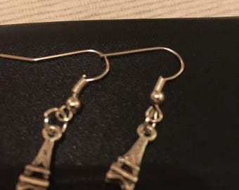Eiffel tower handmade pendant earrings