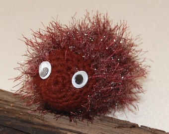 Amigurumi Baby Hedgehog Porcupine Stuffed Toy with Eyes that Move