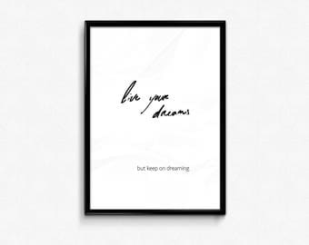 Poster download - Live your dreams