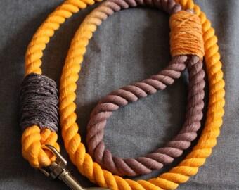 Ombre Dog Leash- Orange Brown