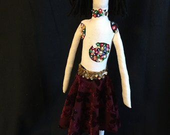 18 inch flower hand made doll