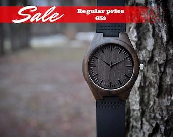 Wooden watch, Wood watch,wood watch for man,Engraved Wooden Watch,Groomsmen Gift,father day gift,Mens watch,Anniversary Gift, Boyfriend Gift
