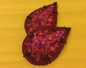 Red and Pink Tear Drop Pastie