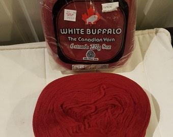 Pure Virgin Wool - Ox Blood Red - Vintage 1980s Yarn