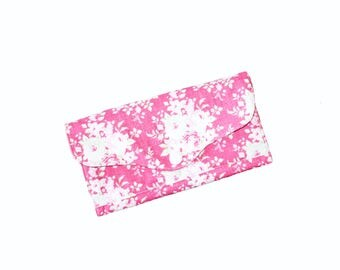 Ladies Purse, Wallet, Money Purse, Pink Roses, Romantic