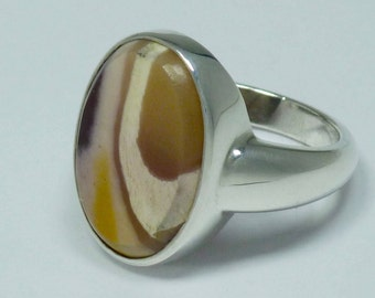 Mookaiet silver ring. Jasper silver ring. Mookaiet jasper silver 925 ring. Hand crafted ring gemstone.
