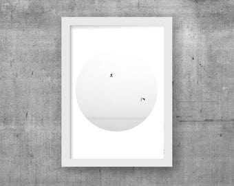Scandinavian prints, Modern wall art, birds picture, bird wall decor, Minimalist print, Minimalist printable art, Digital download art, A3