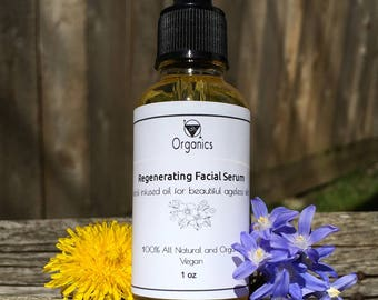 Organic Regenerating Facial Serum