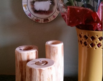 Simple but beautiful Tea Candle holder made out of Ponderous  pine