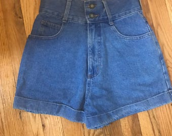 Vintage 90s High Waist Jean Shorts by Express Tricot