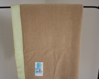 Vintage Antelope Wool Throw Blanket