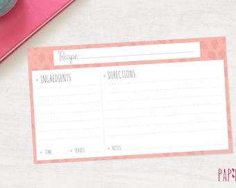 Recipe Template | recipe card template, recipe card printable, recipe card, recipe card 6 x 3.5, printable recipe, blank recipe card