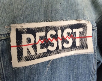 Resist,resist patch,political back patch,political patch,patch,resistance,social justice,punk patches, punk patch,resist patches,antifa