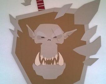 Decoration fantasy shield orc