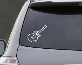 Electric Guitar Vinyl Decal Wall Decal Vinyl Cutter Musical Decal Design