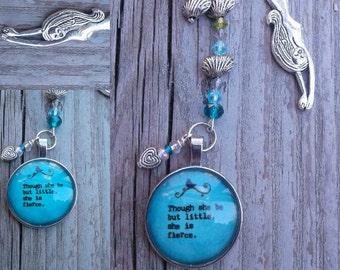 Mermaid bookmark with Shakespearean Quote