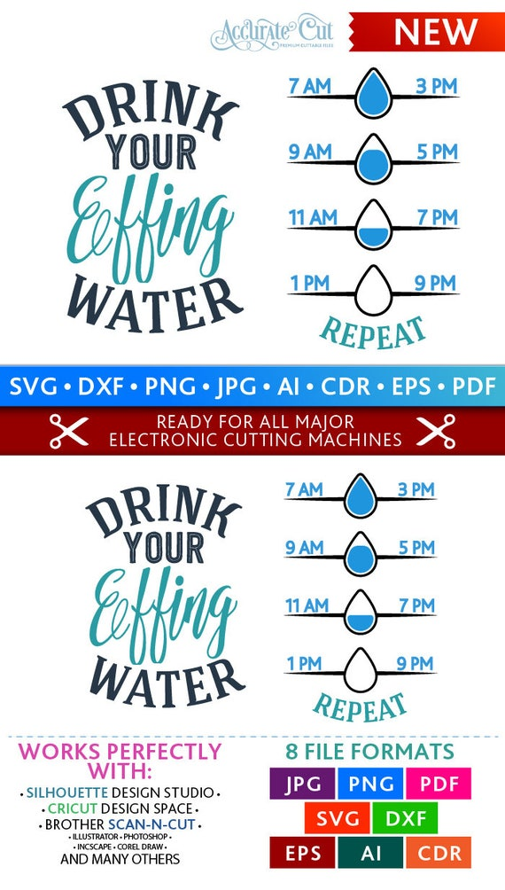 Water Svg Effing Water Svg Drink Your Effing Water Svg Drink