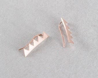 Spiked Ear Pin Earrings (3 colors)