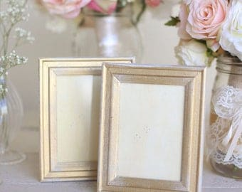 Distressed Gold Wedding Frames Shabby Chic Wedding by Steven and Rae Designs #BraggingBags